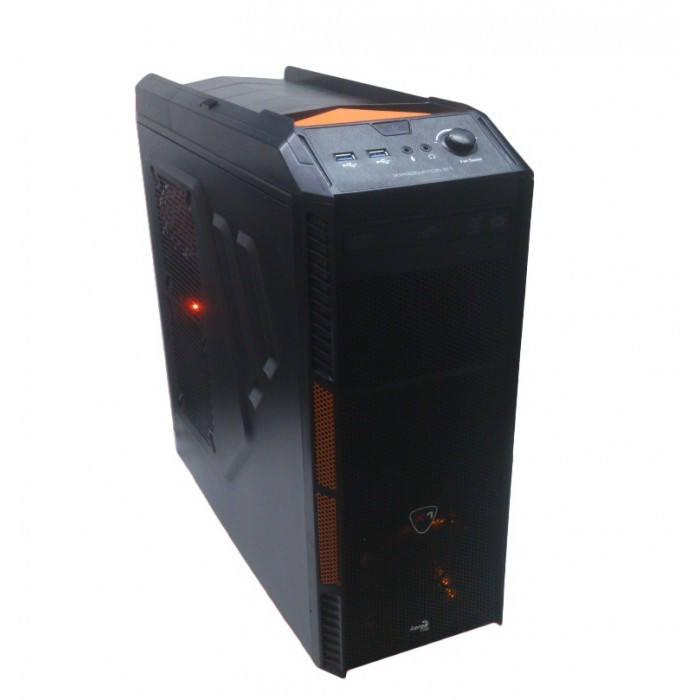 Torre Rdi Gaming Aerocool Orange black