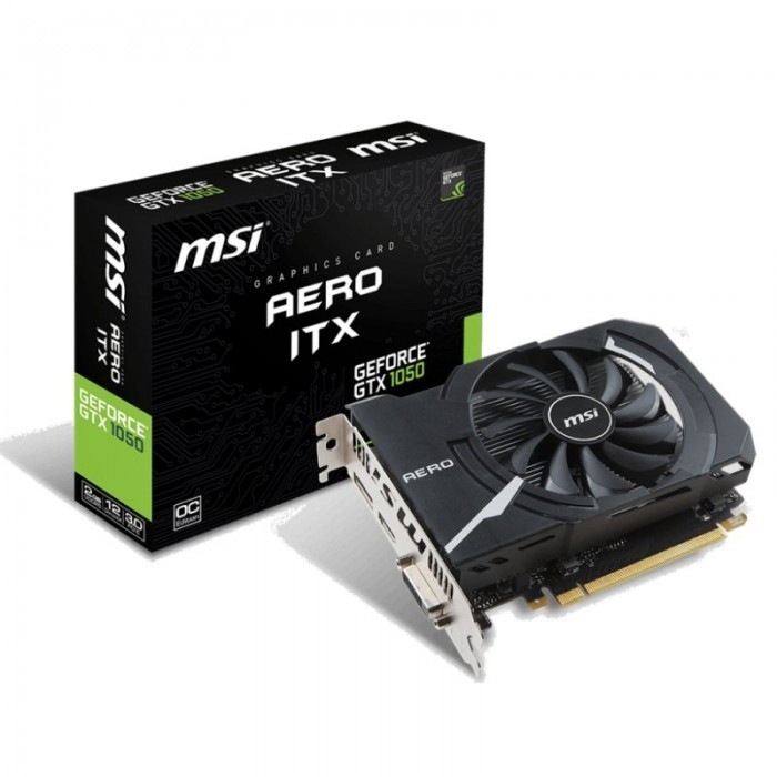 Gráfica MSI NVIDIA GTX1050 AERO OC 2GB