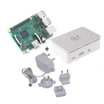 Raspberry kit Pi 3 blanca fuente 5.1V