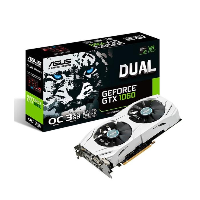 ASUS DUAL-GTX1060-O3G DVI,2*HDMI