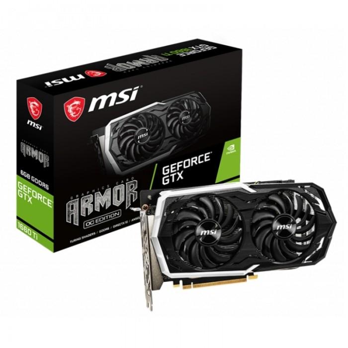 MSI GTX 1660 Ti ARMOR 6GB OC DDR6