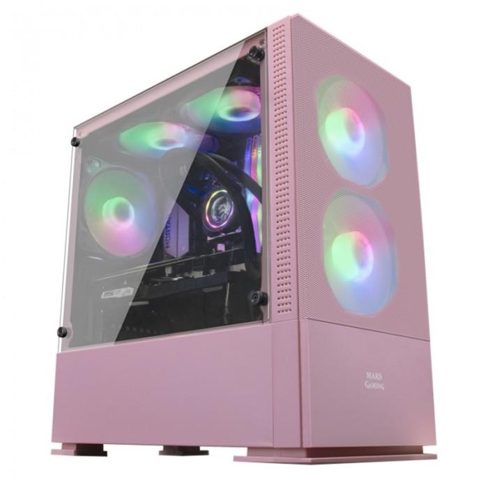 Caja MCZ M-ATX 2X FRGB Rosa