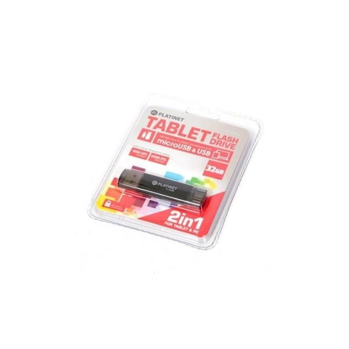 Omega Platinet PMFA32 Lápiz USB X-Depo+microUSB 32