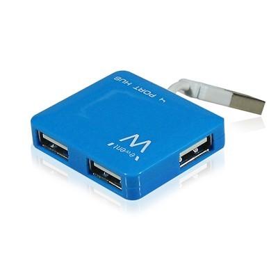 EMINENT-EWENT EW1126 Hub Mini 4 Puertos USB2 Azul