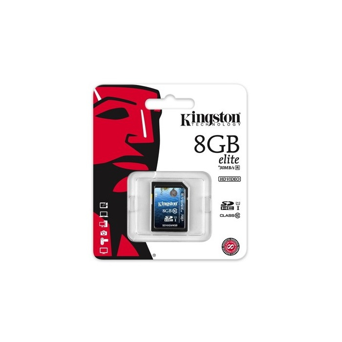 Kingston SD10G3/8GB SDHC Clase 10 8GB