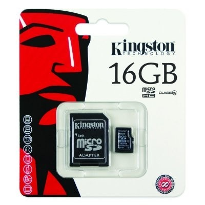Kingston SDC10/16GB MICRO SD HC Clase 10 16GB