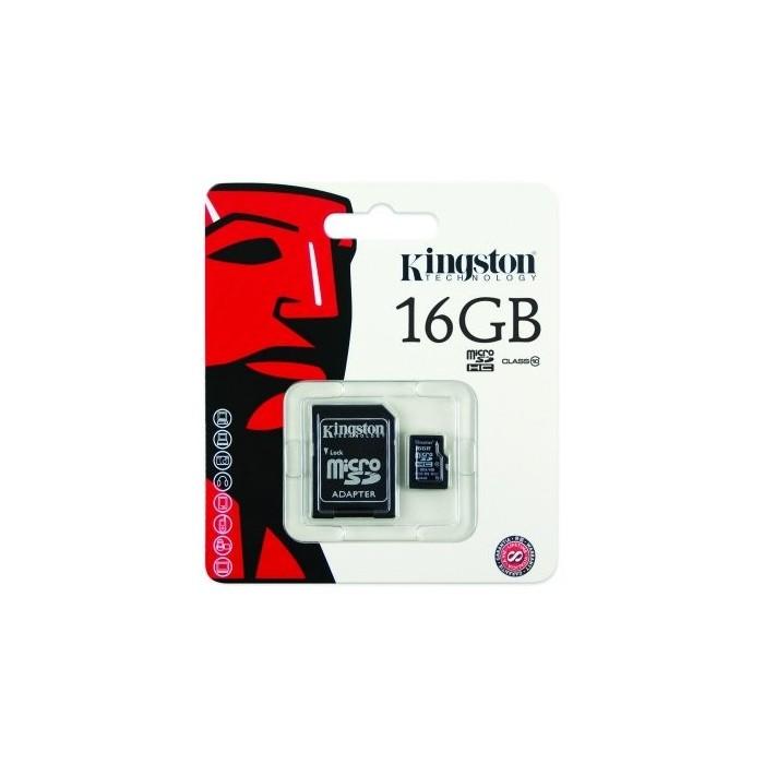 Kingston SDC10/16GB MICRO SD HC Clase 10 16GB