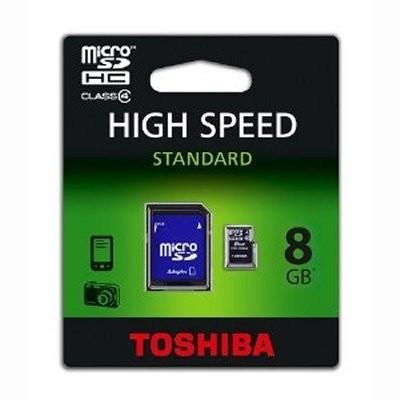 Toshiba SD-C08GJ MICRO SD CLASE 4 8GB C/ADAPTADOR