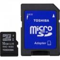 Toshiba SD-C016UHS1 MICRO SD CLASE 10 16GB C/ADAPT