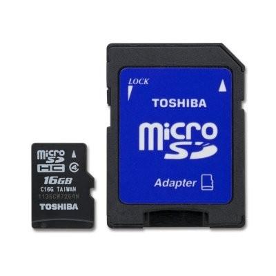 Toshiba SD-C16GJ MICRO SD CLASE 4 16GB C/ADAPTADOR
