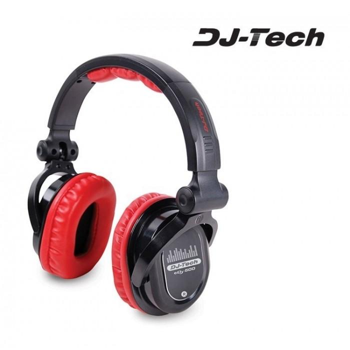 Auricular Dj Profesional DJTECH EDJ 500 Rojo