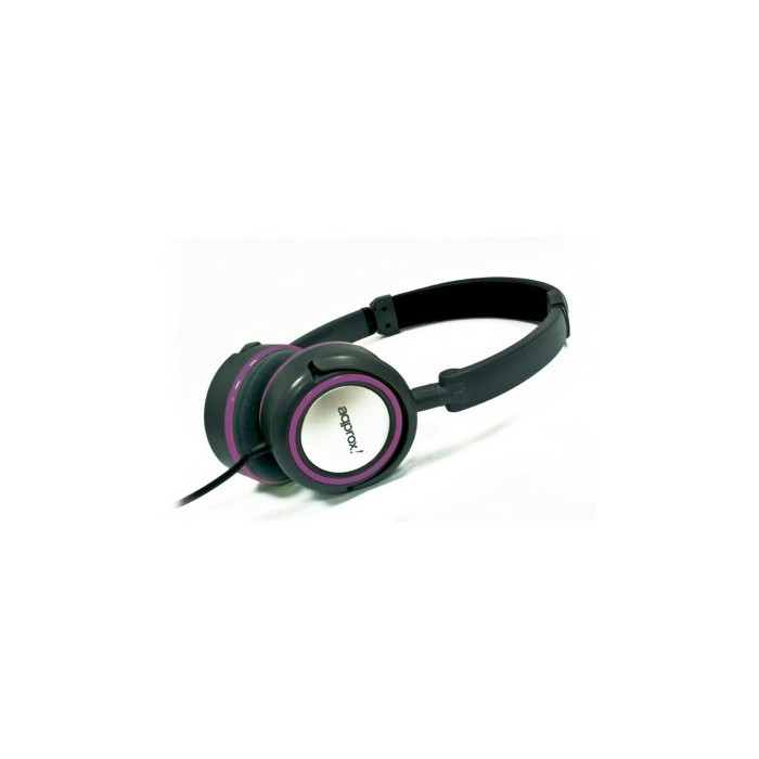 approx! Auriculares Stereo Hi-Fi Púrpura