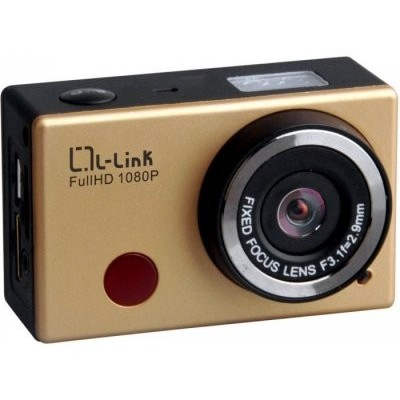 L-link Cam.deportiva FHD 1080p Wifi Oro