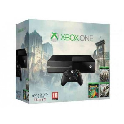 Xbox One + Assassin's Creed Unity + Assassin's Creed Black Flag + Rayman Legends