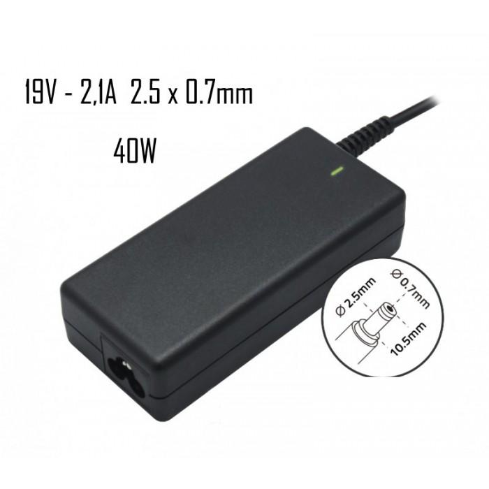 Cargador Asus 19V 2,10A 2.5x0,7mm