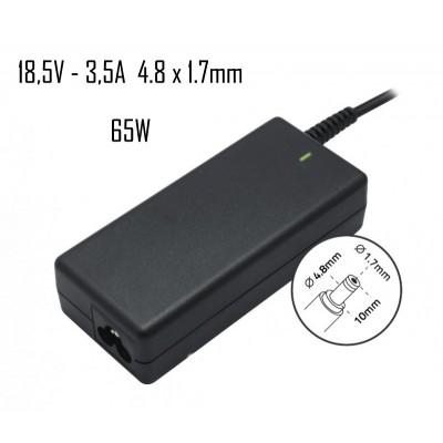 Cargador Hp 18,5V 3,5A 4.8X1.7mm