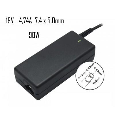 Cargador Hp 19V 4,74A 7.4X5.0mm