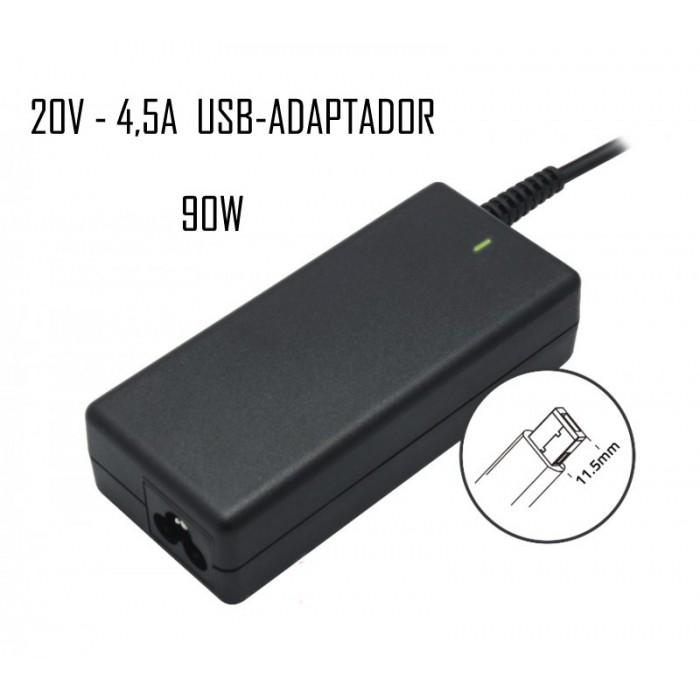 Cargador Lenovo 20V 4,5A USB